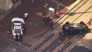 City Police Cruiser Collides With SUV In Downtown Baltimore