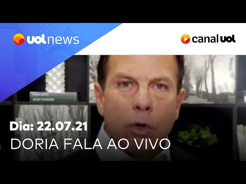 Doria fala de vacinação em SP e comenta polêmicas do governo Bolsonaro | UOL News  (22/07/2021)
