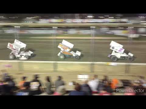 305 Sprint Cars A-Main - Fremont Speedway - 7-31-2021 - dirt track racing video image