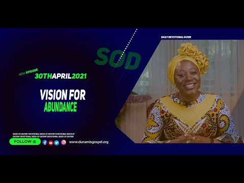 Dr Becky Paul-Enenche - SEEDS OF DESTINY  FRIDAY APRIL 30, 2021