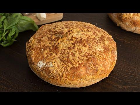 No-Knead Cheese Bread Recipe