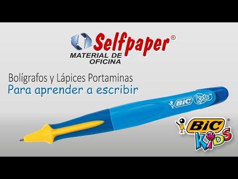 Boligrafo lapiz portaminas para aprender a escribir - aprendizaje bic kids -