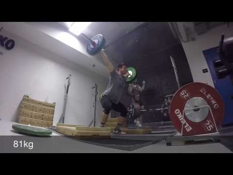 GoPro Weightlifting: Low Block Snatches (80-110kg)