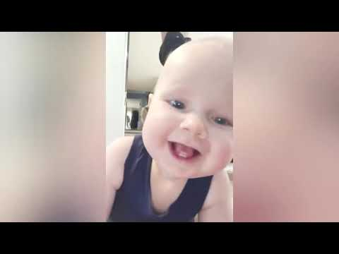 Cutest Baby Crawling For The First Time   Funny Baby Video