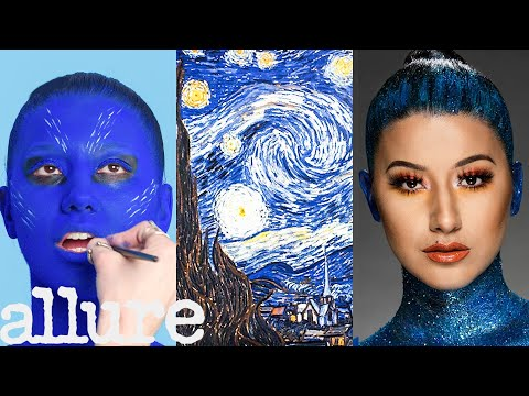 3 Makeup Artists Turn a Model into a Van Gogh Painting   Allure