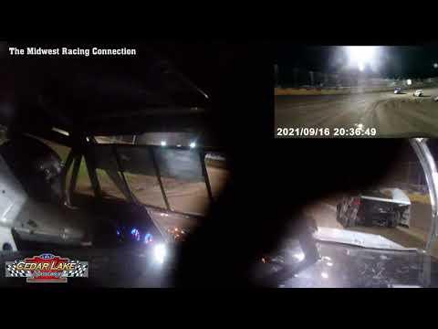Kyle Kirberger In Car Video - Cedar Lake Speedway 09/16/2021 - dirt track racing video image