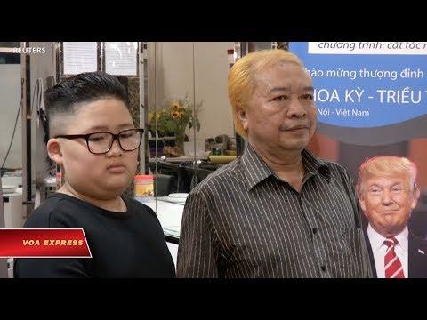 Cắt tóc miễn phí kiểu Trump, Kim tại Hà Nội (VOA)