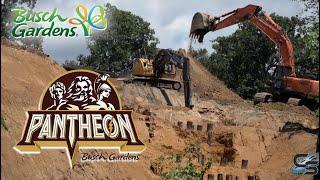 Pantheon August 2019 Construction Update Busch Gardens Williamsburg