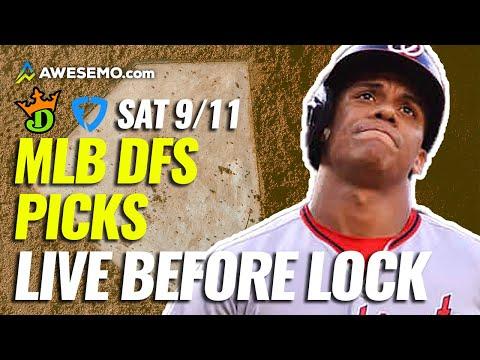MLB Live Before Lock: Daily Fantasy Baseball Picks for DraftKings & FanDuel | Today, Saturday 9/11