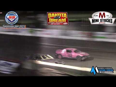 Sheyenne Speedway Mini Stock A-Main (2021 Dakota Dream) (9/6/21) - dirt track racing video image