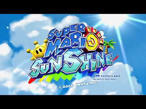 Super Mario Sunshine in Dolphin 5. Widescreen, 60 fps and HD Textures