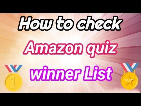 अमेज़न क्विज़ की विनर लिस्ट कैसे देखें // how to check Amazon quiz winner List