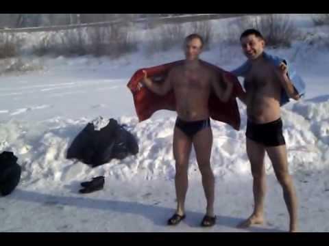 Dwaj Rosjanie i kąpiel w... -32 stopniach!