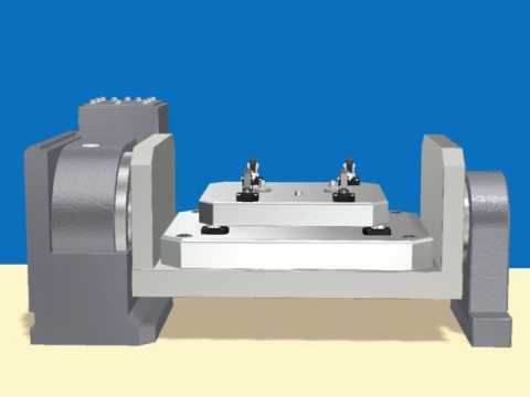 VS hydraulic pallet clamp NCtable2