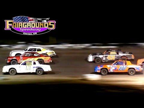 Fairgrounds Speedway IMCA Hobby Stock Main Event 8/14/21 - dirt track racing video image