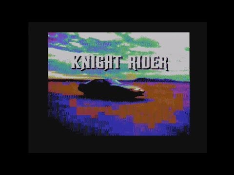 Intro de series de los 80 en Commodore 64 real