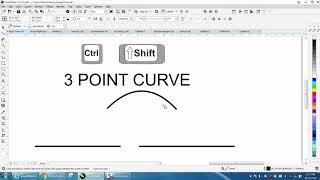 Corel Draw Tips & Tricks 3 Point Curve line