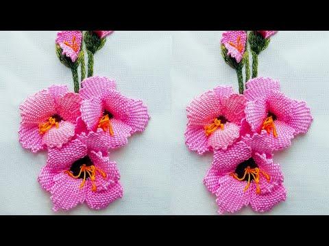 Amazing 3d gladiolus hand embroidery | Creative Ideas @HandiWorks