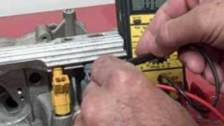 HOW TO OHM CHECK A FUEL INJECTOR high impedance