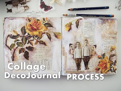 DecoJournal Using Rice Paper Collage for Beginners ♡ Maremi's Small Art ♡