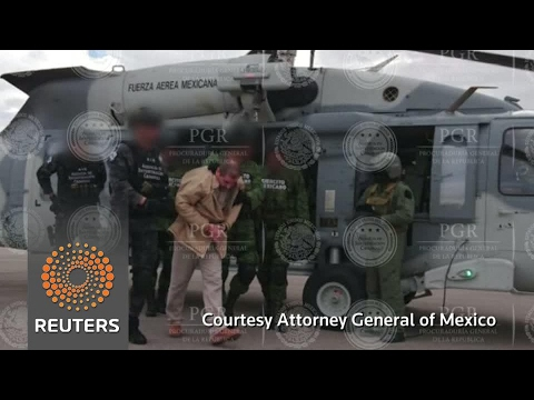 Mexican officials release images of 'El Chapo' extradition