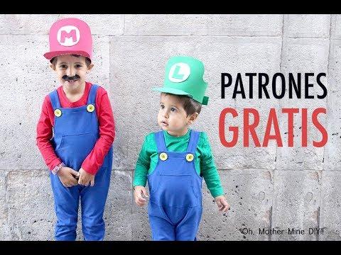 Como hacer disfraz casero de Mario Bros y Luigi
