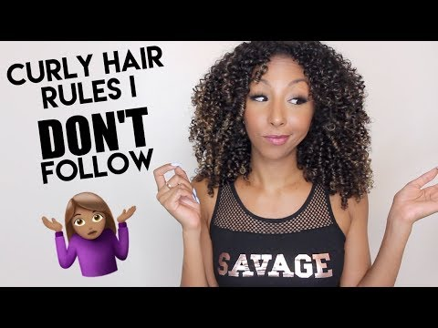 Curly Hair Rules I Don't Follow! | BiancaReneeToday