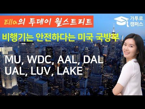 📈 비행기는 안전하다는 미국방부 #MU(마이크론), #WDC, #AAL, #DAL(델타), #UAL, #LUV, #LAKE