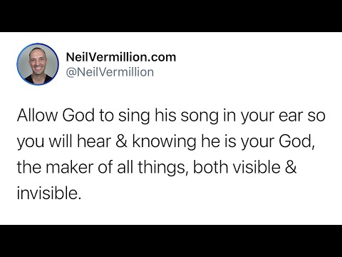 Allow Me To Sing My Songs - Daily Prophetic Word