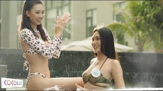 Bỏng mắt ngắm nhìn dàn thí sinh Miss World Việt Nam 2019 diện bikini tung tăng ở hồ bơi Cocobay