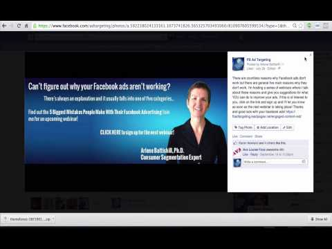 FACEBOOK ADVERTISING HOW TO PUT A LINK OF YOUR FACEBOOK COVER PHOTO