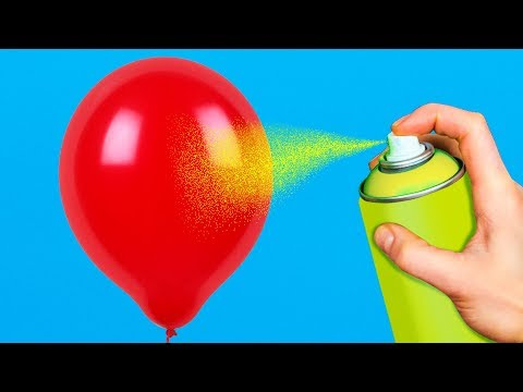 15 COOL LIFE HACKS WITH BALLOONS