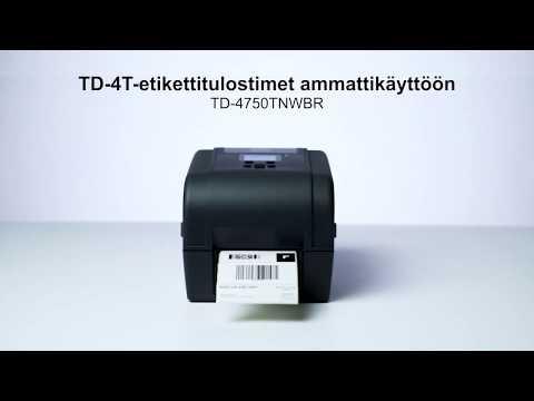 Brotherin TD-4T-tulostimet ammattikäyttöön | TD-4750TNWBR