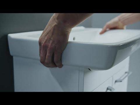Montering av Ifö Spira möbelpaket med hjälp av upphängningsbeslag