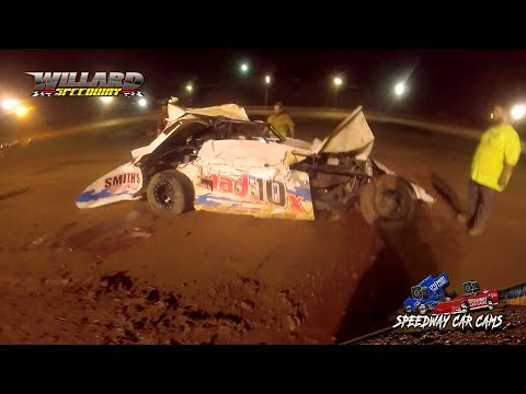 Flip coming out of turn 4 #MAD10X Maddox Smith - Sport Mod - 8-7-21 Willard Speedway - In-Car Camera - dirt track racing video image