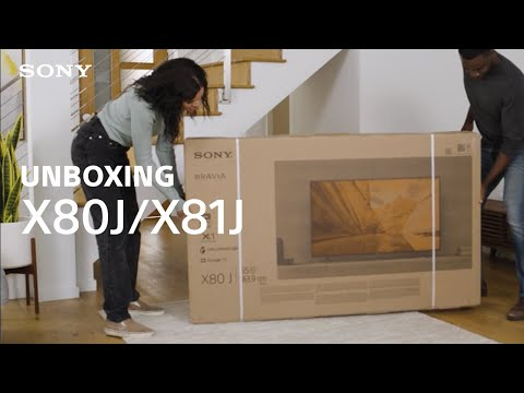 Unboxing: Sony BRAVIA® XR X80J/X81J TV