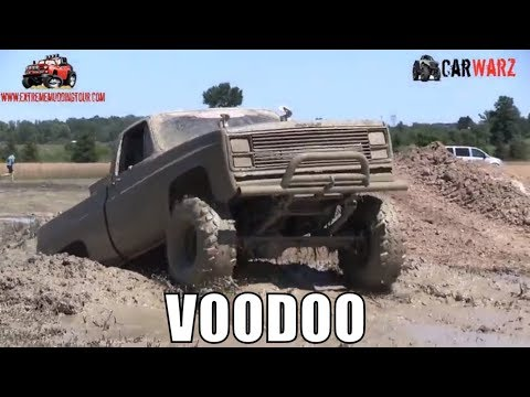 VOODOO Mud Truck Playing In The Mud At Red Barn Customs Mud Bog 2018