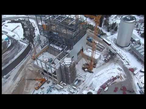 Bygget av Biobränsleeldade kraftvärmeverket på Torsvik - Time Lapse