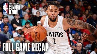 ROCKETS vs TRAILBLAZERS | Gary Trent Jr. Erupts For 31 in Win | MGM Resorts NBA Summer League