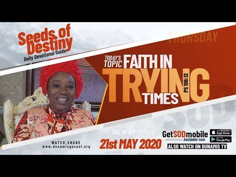 Dr Becky Paul-Enenche - SEEDS OF DESTINY - THURSDAY, 21ST MAY, 2020