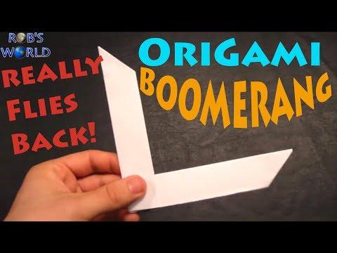 How to Make an Origami Boomerang - Rob's World - UCGCo75oFuO_g6dqxtLZwu7g