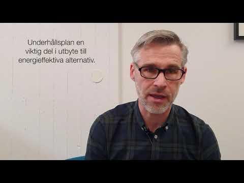 Staffan från AF Bostäder berättar om hur de planerade åtgärder i företagets energiarbete