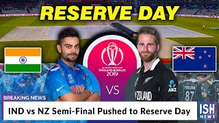 IND vs NZ Semi-Final Pushed to Reserve Day