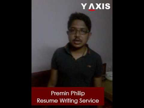 Y-Axis client Premin Philip's Video Testimonial on Resume Writing Services