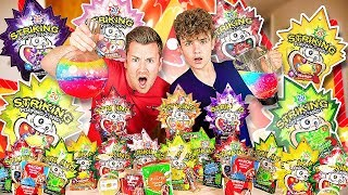 BROTHERS BLEND AND TASTE EVERY FLAVOUR OF POPPING CANDY