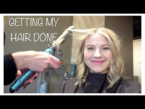 Getting my hair done before Christmas VLOG