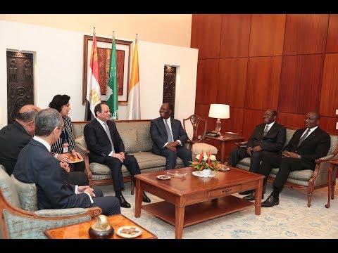 S.E.M. Alassane OUATTARA a accueilli son homologue égyptien qui effectue une visite officielle
