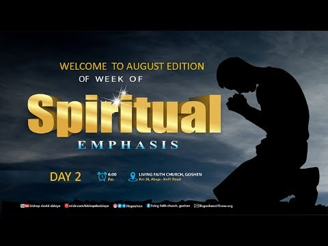 WEEK OF SPIRITUAL EMPHASIS - DAY 3  (7/8/2020)