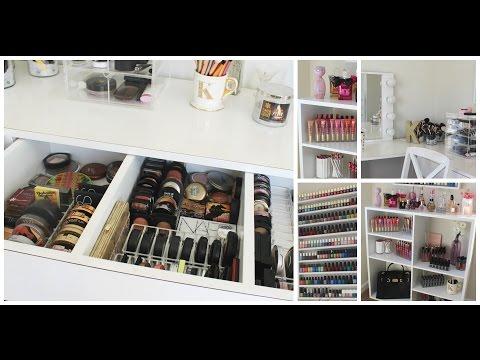 Makeup Collection + Storage | Room Tour- Kathleenlights - UC8v4vz_n2rys6Yxpj8LuOBA