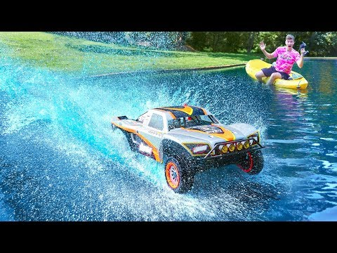 HUGE RC CAR DRIVES ON WATER!! - UCtNBFUsxj2YVbEc5HquzFqg